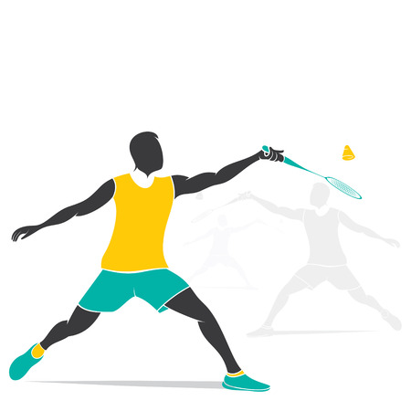 badminton player design vector Stock Vector - 41699564