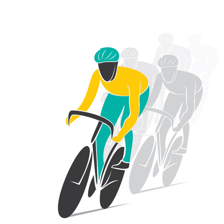 touring: cycling track race design vector Illustration