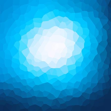 crystallization: blue crystallization pattern background vector Illustration