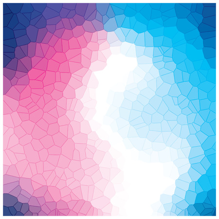 crystallization: pink and blue  crystallization pattern background vector