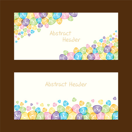 abstract shape: abstract shape web header design