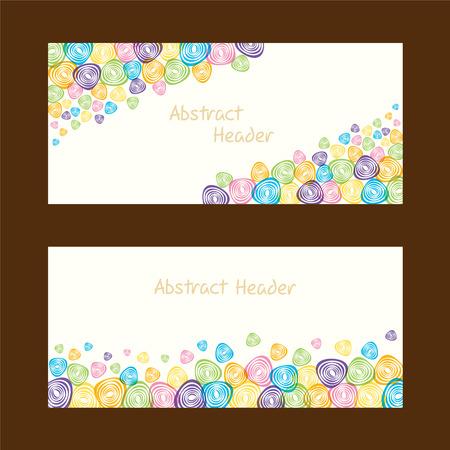 web header: forma abstracta dise�o de la cabecera del Web Vectores