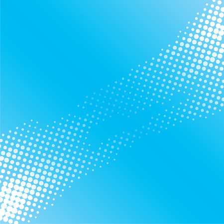abstract white halftone pattern on blue background