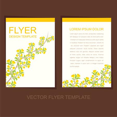 leaflet design: creative natural flyer or leaflet design  Illustration