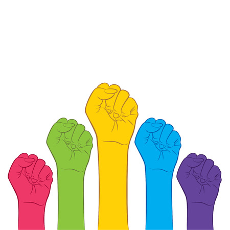 clench: clench hand fist for victory ,protest, revolution concept design vector