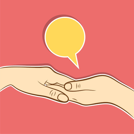 helping hand or support hand concept design  Ilustracja
