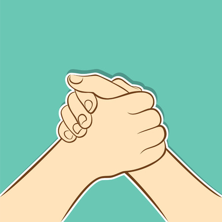 partnership, join hand or support each other concept design  Illustration