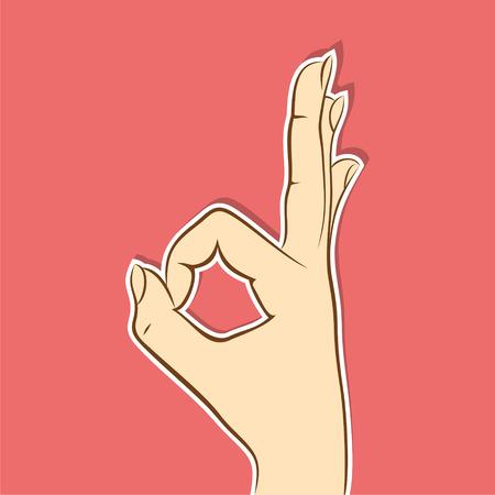 ok hand symbol: ok symbol design by finger concept