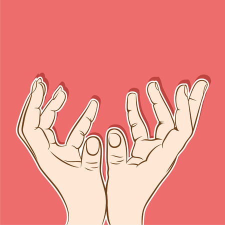 raise the thumb: Hands to hold big object, or catching poisiton design
