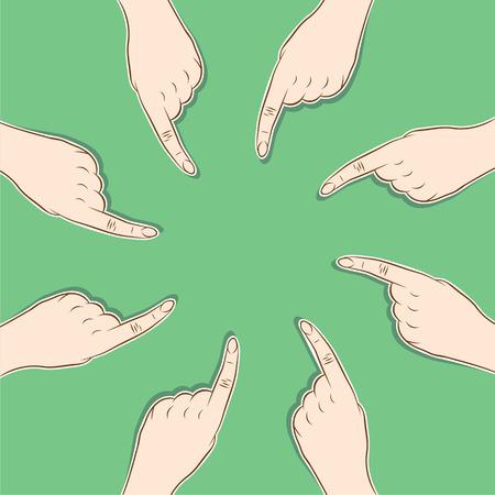 단일 개체: every men pointed finger to single object , concept design