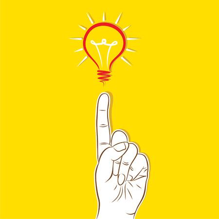 new idea: finger pointing bulb , new idea concept design