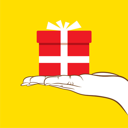 hold: big gift giving or hold in hand design