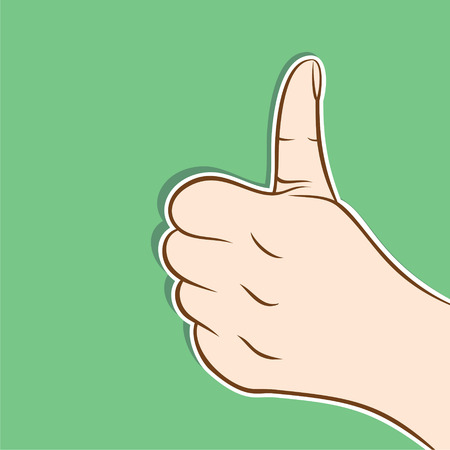 artisitc: thumb up hand or good luck icon design