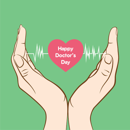 happy doctors day greeting design Illustration