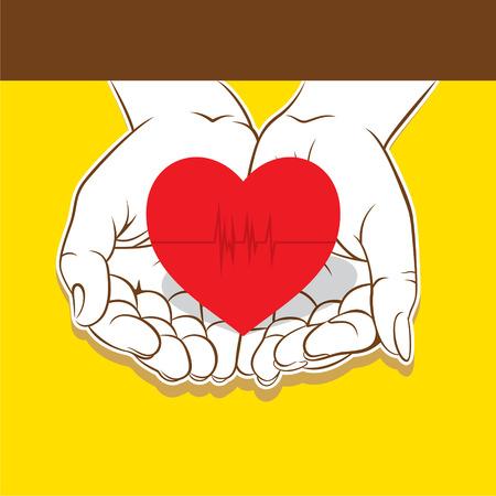 creative cardiology or healthy heart care design