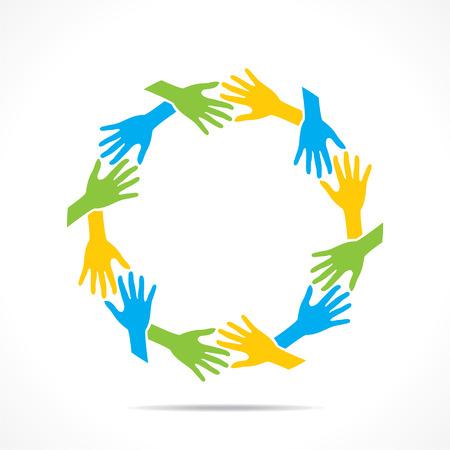 Teamarbeit oder die Einheit concept design vector Standard-Bild - 44134994