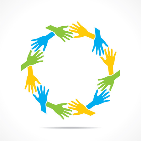 care in the community: teamwork or unity concept design vector