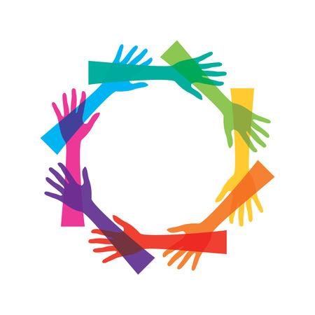 teamwork or unity concept design vector