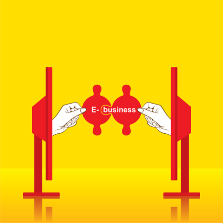 ebusiness: creative e-business concept design vector Illustration