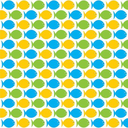 colorful fish: colorful fish pattern background design vector