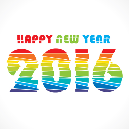 paper strip: creative colorful random paper strip design new year 2016 greeting vector