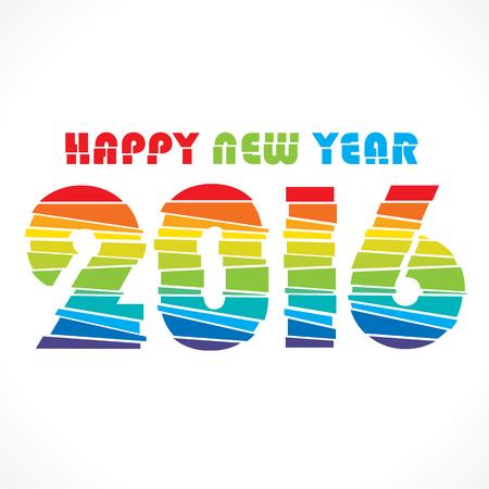 strip design: creative colorful random paper strip design new year 2016 greeting vector