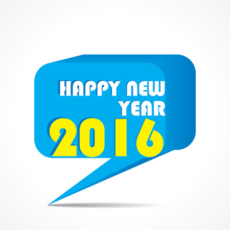 message box: happy new year 2016 message box design vector