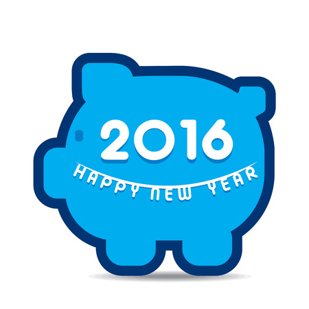 creative finance: creative finance new year 2016 greeting design vector Illustration