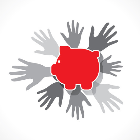 causes: every hand support for causes or financial help concept design vector Illustration