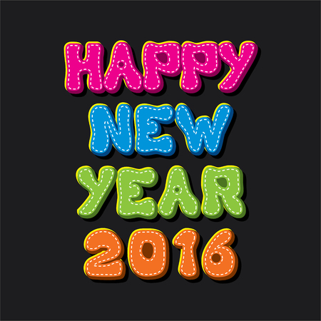 happy new year 2016 abstract greeting design background vector