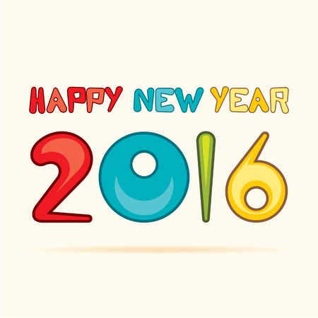 new years resolution: happy new year 2016 design vector