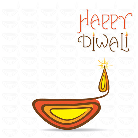diwali greeting: happy diwali greeting card design vector