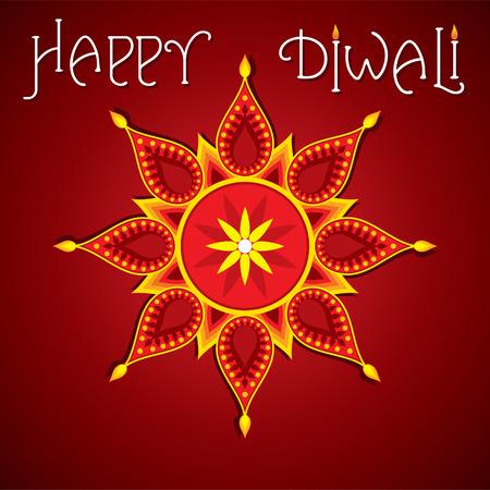diwali greeting: happy diwali greeting design vector