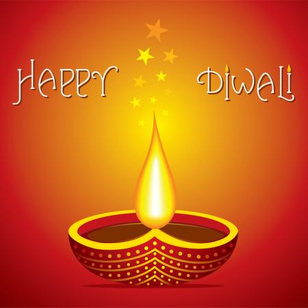 happy diwali poster or greeting design vector