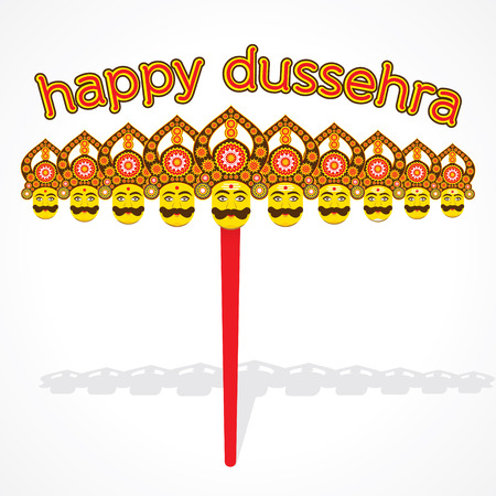 ramayan: happy dussehra greeting card or poster design vector