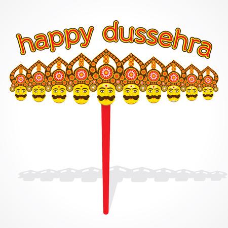 devotion: happy dussehra greeting card or poster design vector
