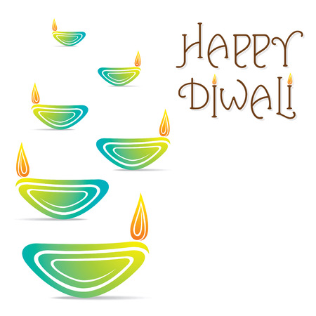 diwali celebration: happy diwali banner or greeting card design vector