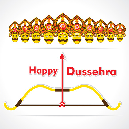 ramayan: happy dussehra greeting card design vector