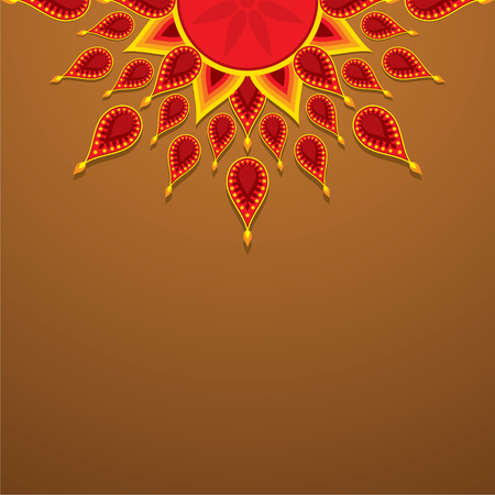 creative diwali greeting design vector
