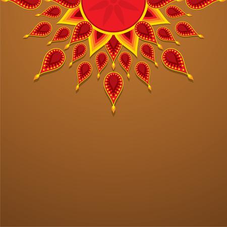 creative diwali greeting design vector