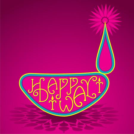 creative style diwali festival diya design vector Illustration