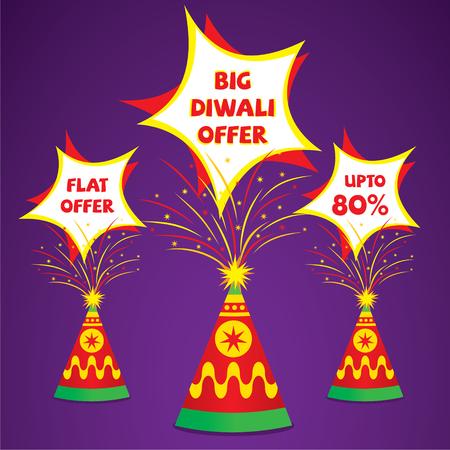 discount: creative diwali offer banner or flyer design vector