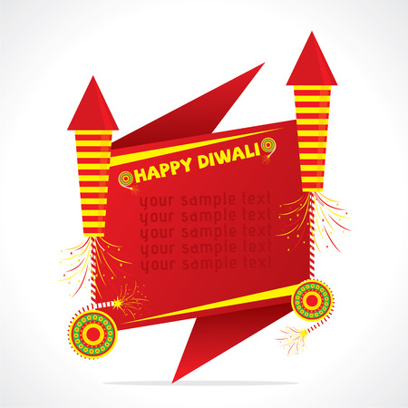holiday invitation: creative Big cracker sale banner design , happy diwali vector