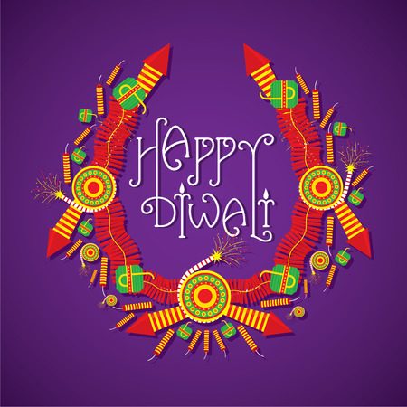 diwali: creative Big cracker sale banner design , happy diwali vector
