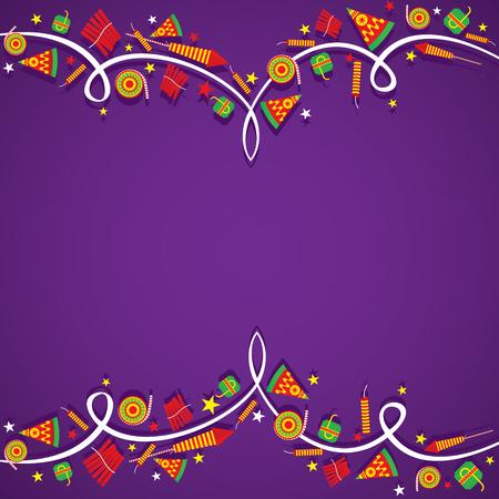 religious celebration: creative Big cracker banner border design , happy diwali vector