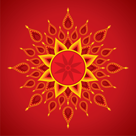 diwali celebration: creative diwali greeting card design vector