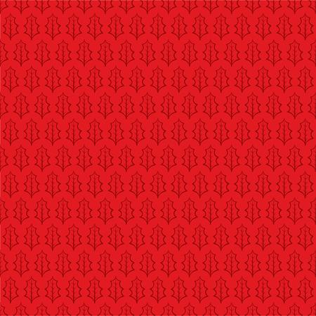 Hoja De Invierno Sin Fisuras Patrón De Color Rojo Del Vector ...