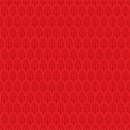 winter leaf: Winter leaf seamless pattern red background vector