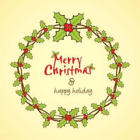 greeting christmas: merry christmas greeting design vector