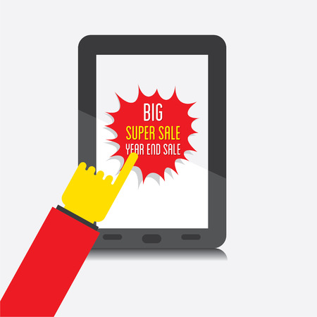 the end of the year: creative big super end year sale banner design vector